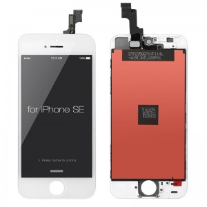 iPhone SE Replacement LCD Screen and Digitizer Assembled with Frame-White