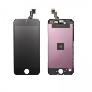 Replacement LCD Screen and Digitizer for iPhone 5C Assembly with Frame  Black