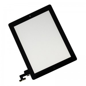 Apple iPad 2 Digitizer Touch Panel with Frame   Black
