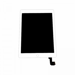 Replacement LCD Screen and Digitizer for iPad Air 2(iPad 6) Assembly with Frame White