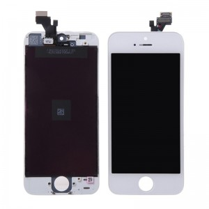 iPhone 5 Replacement LCD Screen and Digitizer Assembled with Frame-White