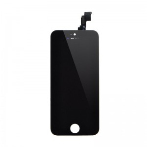 iPhone 5 Replacement LCD Screen and Digitizer Assembled with Frame,Front Camera,Earpiece Speaker,Home Button-Black