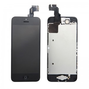 Replacement LCD Screen and Digitizer for iPhone 5C Assembly with Frame+Small parts Black