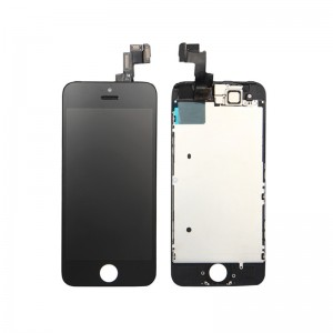iPhone 5S Replacement LCD Screen and Digitizer Fully Assembled with Frame,Small Parts-Black