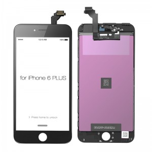 Replacement LCD Screen and Digitizer for iPhone 6 Plus Assembly with Frame  Black