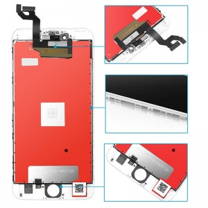Replacement LCD Screen and Digitizer for iPhone 6S Plus Assembly with Frame White
