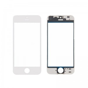 Replacement  Glass Cover for iPhone 8 Plus with Frame White