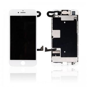 Replacement LCD Screen and Digitizer for iPhone 8G Full Assembly with Frame+Small parts  White