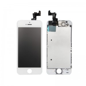 iPhone 5S Replacement LCD Screen and Digitizer Fully Assembled with Frame,Small Parts-White