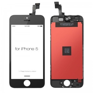 iPhone 5 Replacement LCD Screen and Digitizer Assembled with Frame-Black