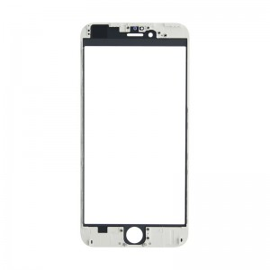 Replacement Cover Glass for iPhone 6 Plus with Frame White