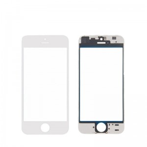 iPhone 5S Replacement Screen Glass with Frame-White