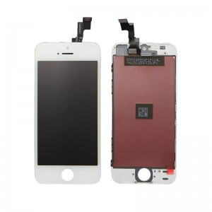 iPhone 5S Replacement LCD Screen and Digitizer Assembled with Frame-White