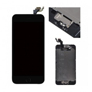 Replacement LCD Screen and Digitizer for iPhone 6 Plus Full Assembly with Frame+Small parts  Black